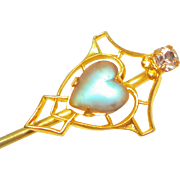 Victorian Saphiret Jeweled Stickpin