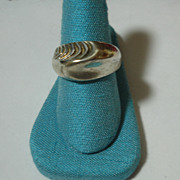 Monet Sterling Silver Ultra Mod Ring SIGNED