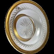 Antique French Empire Crystal Dore Bronze Tazza