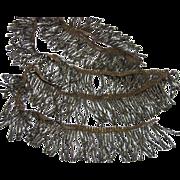 18th Century French Bronze Silver Metallic Tassel Trim