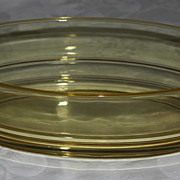 George Sakier #2443 Console Bowl and Candle holders for Fostoria Glass Company
