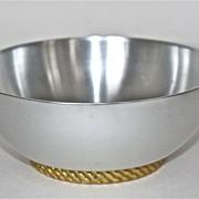 "Lurelle Guild Art Moderne ""Briar Bon Bon Dish""C. 1934-1935 Kensington Aluminum"