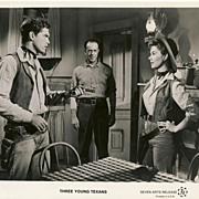 "Cinema Lobby Photograph ""Three Young Texans"" Circa 1954"