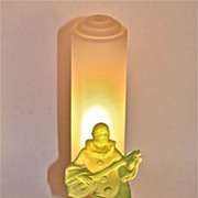 Art Deco Night Light Pierrot Playing a Lute Circa 1930's