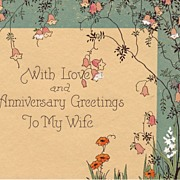 Art Deco Anniversary Greetings From Husband Circa 1933