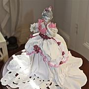 Mystery half doll, early 20th century 18th century lady