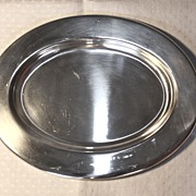 """United States Navy Officer's Mess 10"""" by 7.75"""" Canape tray INTERNATIONAL SILVER CO."""