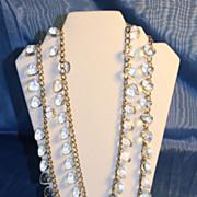 Lucite and Aluminum Necklace