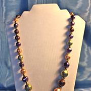 Matinee Length Acrylic Faux Tahitian Pearls Necklace