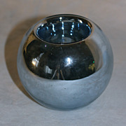Czech Art Deco Mercury Glass Vase