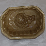"19th Century Yellow ware ""Grapes"" Food Mold"