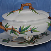 """Royal Worcester """"Bamboo"""" Sauce Tureen and Underplate"""