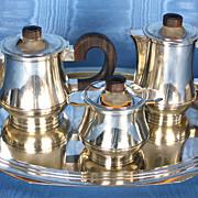 French Art Deco Silver Coffee/Tea Set Circa 1930's