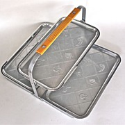 SOLD Chase Art Deco 2-tier Folding Canape Tray