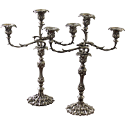 Pair of Anglo-Indian Candelabra in the Birmingham Style