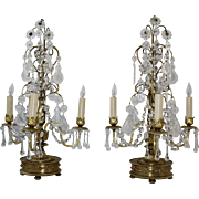 Pair of Hollywood Regency Girandole Lamps