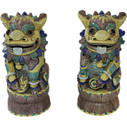 A Pair of Chinese Foo dogs, Early 20th Century