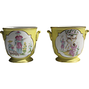 """Pair of Towle """"Chinoiserie"""" Porcelain Cache Pots"""