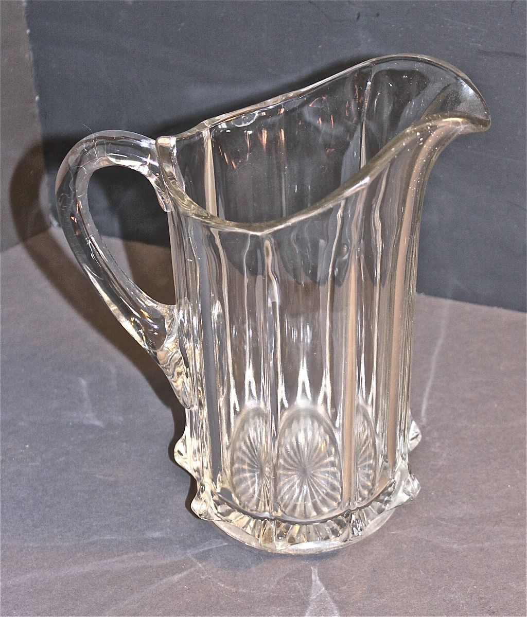 Portland Pitcher: EAPG Portland Water Pitcher C. 1880-1900 From Decosurfn-rl