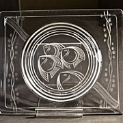 Art Deco Crystal Canape Plate circa 1930's
