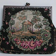 Adorable antique Petit-point or tapestry purse / bag