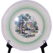 Clarice Cliff 10 7/8 inch Cotswold Plate Newport Pottery