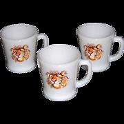Fire King Tiger Mugs