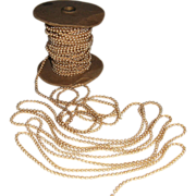 Cream Coloured Beads Continuous Strand - Partial Spool at 53 feet