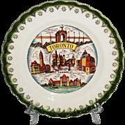 Toronto, Canada Vintage Souvenir Plate Warranted 22K Gold Trim
