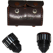 Pair of Accura Lenses in Leather Pouch/Case