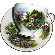 Royal Vale Thatched Cottage Cup and Saucer