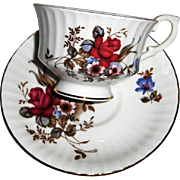 Paragon Bone China Cup and Saucer with Floral Pattern