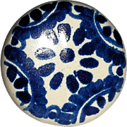 Large Porcelain Drawer Pulls Blue and White Delft Style Pattern
