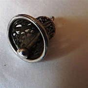 Vintage Sterling Silver Wedding Bell Charm