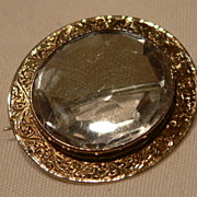"""SALE! Victorian """"9Karat Gold"""" And Crystal Brooch/Pendent"""