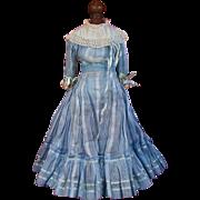 SOLD Wonderful Antique French or German Fashion Doll Dress