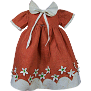 Vintage Felt Dress for Lenci or Other Cloth Doll