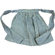 Antique Blue and White Gingham Doll Apron