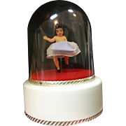 Vintage Reuge Dancing Ballerina Girl Musical Dome Box