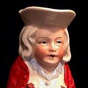 Antique BABY BEN FRANKLIN Toby Pitcher Wonderful Piece!