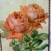 SOLD Rare 1895 Paul De Longpre Chromolitho on Glass.. Lovely Roses