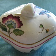 SALE Exquisite Vintage Floral Porcelain Covered Box by Richard Ginori- Florence, Italy