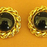 SALE Bold Sophisticated Vintage Ciner Clip Style Earrings