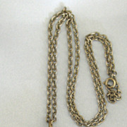 """Huge Vintage Classic """"Three Graces"""" Locket Pedant and Chain"""