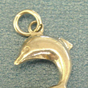 Sterling Silver Porpoise Charm with Lucite Orb