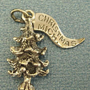 Vintage Sterling Silver Christmas Tree Charm