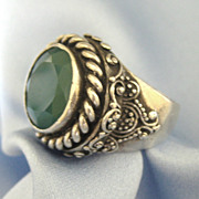 Fabulous Ornate Sterling Chalcedony Ring