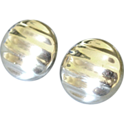 Chunky Vintage Sterling Pierced Earrings