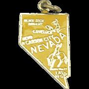 Vintage Enamel Sterling Nevada State Charm