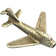 Vintage Sterling Air Force Military Jet Charm